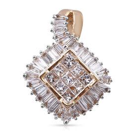 ILIANA 1 Carat Diamond Cluster Pendant in 18K Gold 2.31 Grams IGI Certified SI GH