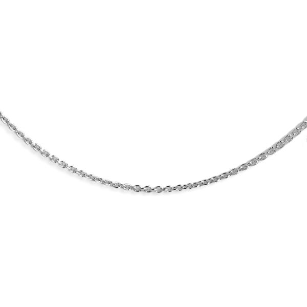 RHAPSODY 950 Platinum Trace Chain (Size 18) with Spring Ring Clasp