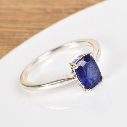One Time Deal- Masoala Sapphire Solitaire Ring in Sterling Silver 1.25 Ct.