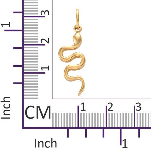 14K Gold Overlay Sterling Silver Snake Pendant