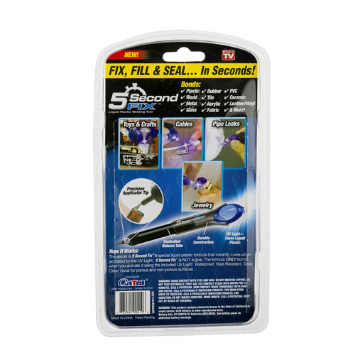 5 Second Fix Liquid Plastic Weilding Kit - UV Light Repair and Glue Welding Pen