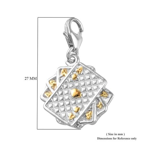 Platinum and Gold Overlay Sterling Silver Playing Card Charm