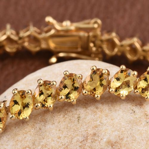 Marialite (Ovl) Bracelet (Size 7.5) in 14K Gold Overlay Sterling Silver 12.000 Ct. Silver wt 12.30 Gms.