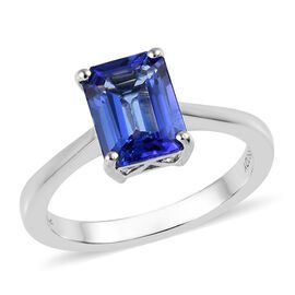 RHAPSODY 2 Ct AAAA Tanzanite Solitaire Ring in 950 Platinum 5 Grams