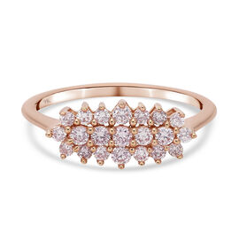 9K Rose Gold Diamond Cluster Ring 0.50 Ct.