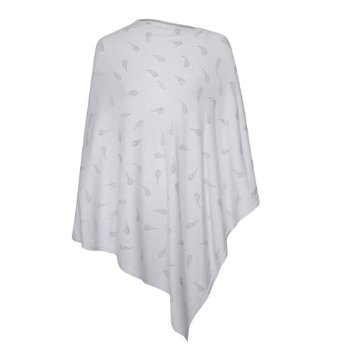 Kris Ana Paisley Scattered Grey Poncho One Size (8-18)