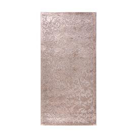 Vivaz Collection - Jaal- Damask Pattern Jacquard Carpet (Size 75x150 Cm) - Grey