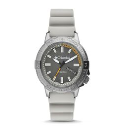 Columbia Peak Patrol Grey 3-Hand Day Date Khaki Silicone Watch