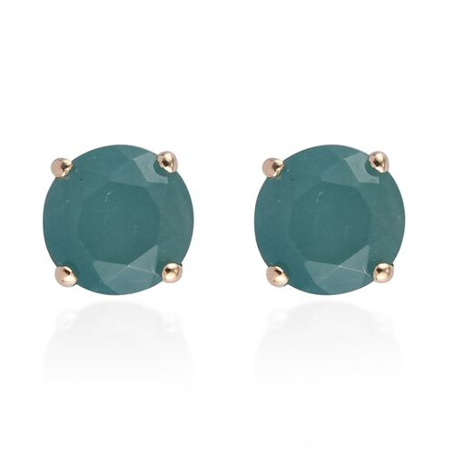9K Yellow Gold AA Grandidierite Solitaire Stud Earrings (with Push Back) 1.10 Ct.