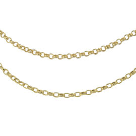 9K Yellow Gold Round Belcher Necklace (Size 20)