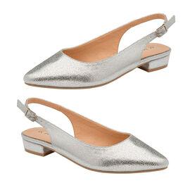 Ravel Silver Highlands Slingback Ballet Flats