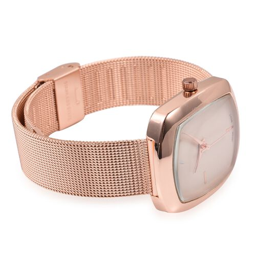 STRADA Japanese Movement Water Resistant Watch in Rose Gold Tone