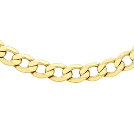 Limited Available- 9K Yellow Gold Curb Necklace (Size - 20), Gold wt. 17.97 Gms