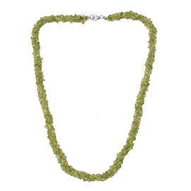 DOD - Hebei Peridot Necklace (Size 20) in Platinum Overlay Sterling Silver 256.50 Ct.