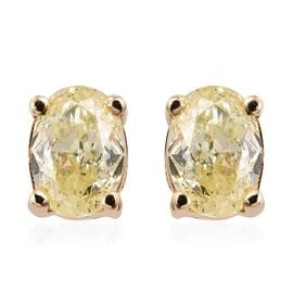 Diamond 9K Y Gold Earring  0.330  Ct.