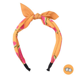Watermelon Pattern Knot Headband in Yellow Colour (Size 39.4x5 Cm)
