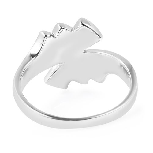 Monster Deal - Sandblast Texture Collection - RACHEL GALLEY Rhodium Overlay Sterling Silver Bypass Ring