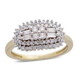 ILIANA 18K Yellow Gold IGI CERTIFIED Diamond (Rnd) (SI/G-H) Ring 0.500 Ct.