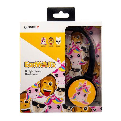 Groov-e EarMOJIs Stereo Headphones - Unicorn
