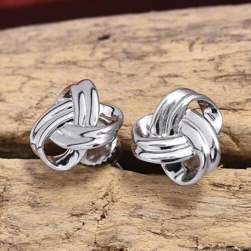 RHAPSODY 950 Platinum Knot Stud Earrings (with Screw Back), Platinum wt 3.44 Gms.