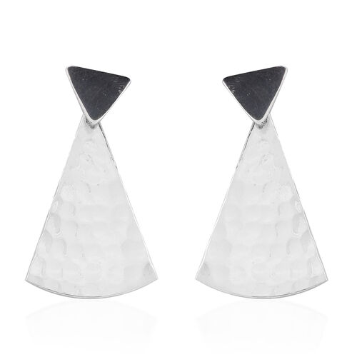 Designer Inspired-Sterling Silver Earrings (with Push Back), Silver wt. 4.50 Gms.