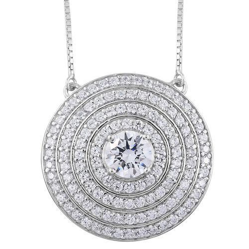 Limited Edition-J Francis - Platinum Overlay Sterling Silver (Rnd) Adjustable Necklace (Size 18) Mad