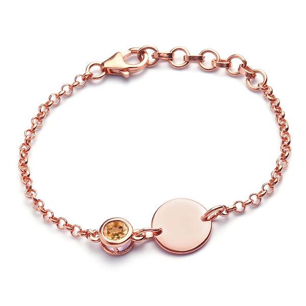 Citrine Bracelet (Size 6 with Extender) in Rose Gold Overlay Sterling Silver