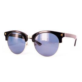 SOHO SQUARE Unisex Round Blue Polarised lens - Shiny Black