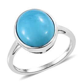 SLEEPING BEAUTY TURQUOISE (3.75 Ct) 9K W Gold Ring  3.750  Ct.