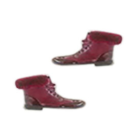 Warm Faux Fur Lace-up Winter Ankle Boots - Burgundy