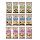 Just Roasted Variety Box 12x50g (4 x Wasabi Peas, 4 x Sweet Chilli Fava Beans, 4 x Sea Salt Fava Bea