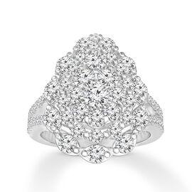 New York Close Out Deal - 14K White Gold Diamond (Rnd) (I1-I2 /G-H) Ring 1.750 Ct.