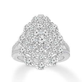 New York Close Out Deal - 14K White Gold Diamond (Rnd) (I1-I2 /G-H) Ring 1.750 Ct.