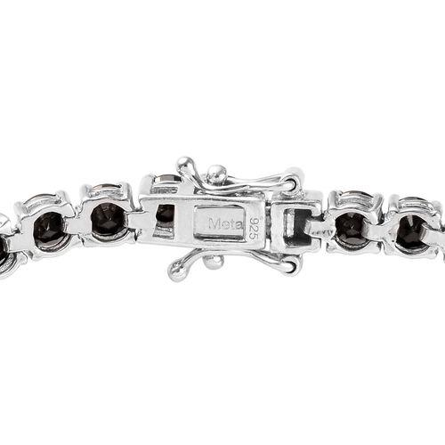 Elite Shungite (Rnd) Bracelet (Size 8) in Platinum Overlay Sterling Silver 7.25 Ct, Silver wt 9.83 Gms