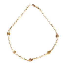 Station Necklace in 9K Yellow Gold 4 Grams 20 Inch