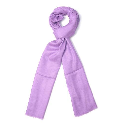 100% Cashmere Wool Lavander Colour Ultra Soft Scarf (Size 200X70 Cm)