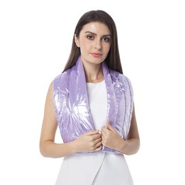 Purple Colour Scarf with Bling Effect (Size 107x18 Cm)