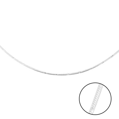 Made in Italy - Sterling Silver Diamond Cut Chain (Size 30)
