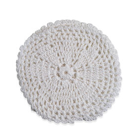 8 Piece Set - 100% Cotton Handmade Crochet Lace, 4 Place Mats and 4 Coasters White