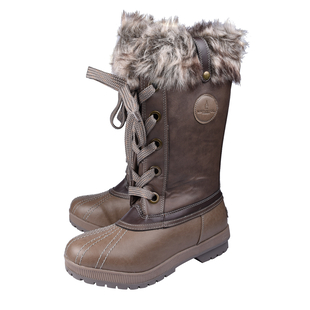 London Fog Womens Winter Boots - Brown and Cognac (Size 6)