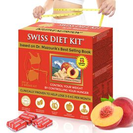 SWISS DIET KIT - Peach Flavour Dietary Candies Refill Pack (250g) - 84 Pieces