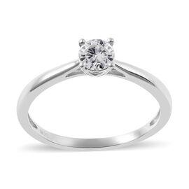 Diamond (0.50 Ct) 9K W Gold Ring  0.500  Ct.