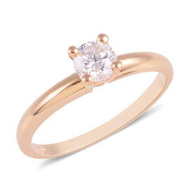 SIGNATURE COLLECTION 18K Yellow Gold SGL CERTIFIED Diamond (Rnd) (I1/ G-H) Solitaire Ring 0.50 Ct.