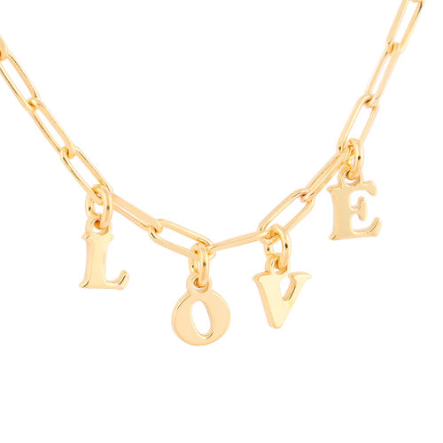 Italian Made - Gold Overlay Sterling Silver Love Belcher Necklace (Size 18 with 2 inch Extender)