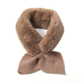 Faux Fur Scarf (Size 10x88cm) - Brown