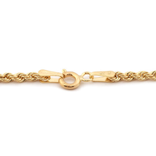 Italian Made 9K Yellow Gold Rope Necklace  (Size 18)