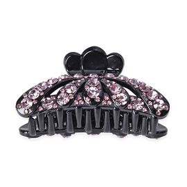 Crystal Studded Hair Claw Clip - Light Purple