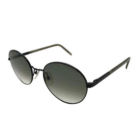 DIOR Unisex Round Metal Retro Sunglasses with Grey Lenses
