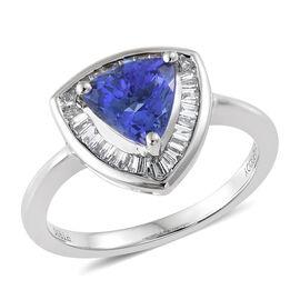 RHAPSODY 950 Platinum AAAA Tanzanite (Trl), Diamond (VS/E-F)  Ring 1.800 Ct