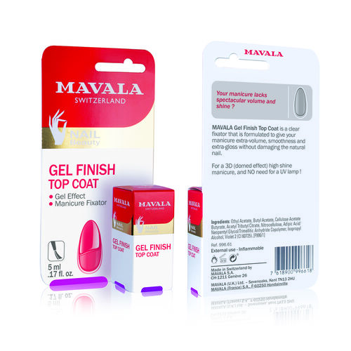 Mavala: Gel Effect Kit - Base Coat (002) -5ml, Gel Effect Finish Top Coat - 5ml& MavaDry Quick Finish - 5ml (With file, Cuticle Stick & Free Polish - 5ml)